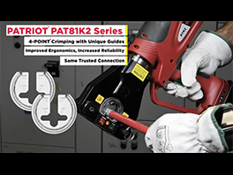 PATRIOT® 4-POINT® PAT81K2 Series of Dieless Battery Crimping Tools