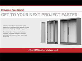 nVent HOFFMAN Universal Free-Stand Enclosures