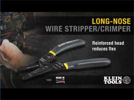 Klein® Long-Nose Wire Stripper/Crimper