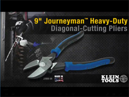 Klein® 9'' Journeyman™ Heavy-Duty Diagonal-Cutting Pliers