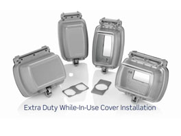 Leviton Manufacturing Company: Extra Duty While In Use Covers