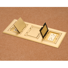 Arlington's UL Listed, economical gangable floor box kits offer the easy solution to having the concrete floor box you need - when you need it. The single gang, non-metallic boxes lock together to create a two- or three-gang box that accommodates a brass or nickel-plated brass gasketed cover. Best of all, the covers for Arlington's interlocking boxes can be installed with the hinge on either side.