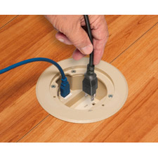 "Arlington's cULus Listed FLBC4560D IN BOX™ Cover Kits are the best way to install receptacles in a 4.5""concrete box."