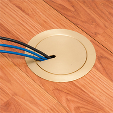 Arlington's NEW FLBR5420 series RECESSED FLOOR BOX KITS feature TWO low  voltage openings, ULTRA-THIN stamped steel flange – and  FLUSH-to-the-floor in-use and blank covers.
