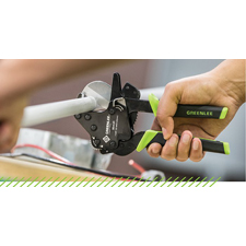 <i>Mechanical and electrical contractors will appreciate the simplistic design that delivers straight, burr free cuts.</i><br><br><b>ROCKFORD, Ill. (March 12, 2018)</b>  – Greenlee Textron Inc., a Textron Inc. (NYSE: TXT) company, is  expanding its PVC cutter offering with the new 1 5/8-inch O.D. PVC  Cutter. Its comfortable rubber grips and shorter handle span reduce the  required handle force for easy ergonomic cutting of PVC.
