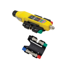 """<b>Nov. 29, 2017 (Lincolnshire, Ill.)</b> – Klein Tools (<a href=""""http://www.kleintools.com"""">www.kleintools.com</a>),  for professionals since 1857, introduces a variety of new additions to  the Voice-Data-Video (VDV) product line, including the Coax Explorer 2  Tester with Remote Kits, the Pass-Thru™ Modular Crimper and two new  models of radial strippers."""