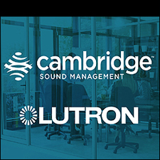 Lutron room occupancy sensors can wirelessly activate sound masking  systems from Cambridge Sound Management, helping to boost privacy  automatically