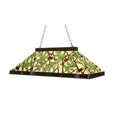 Meyda Tiffany Lighting Presents Acorn & Oak Leaf Oblong Pendant