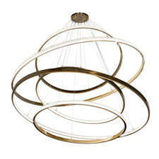 Anillo 84-inch Cascading Chandelier released by Meyda Custom Lighting
