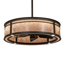 Meyda Lighting introduces Maglia Semplice Chandel-Air Custom Fan Integrated Lighting Fixture