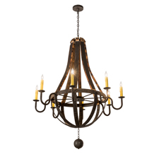 Meyda Lighting introduces Barrel Stave Chandeliers