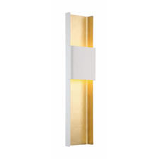 Port Washington, N.Y. — Hand-leafed in pure gold with a contrast finish  in white or bronze, Tribeca adds gilded glamour and the downtown  sophistication of New York to your modern living space. Tribeca is a new  wall sconce from Modern Forms.
