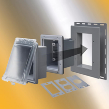 <b>South Bend, Indiana</b> April 24, 2018 - TayMac is proud to market  the MR420 series of recessed outdoor wall outlet covers. The line of  non-metallic covers is designed for use with all common siding types and  materials. TayMac, part of Hubbell Commercial Construction, provides  innovative electrical products to industrial, commercial and residential  markets.