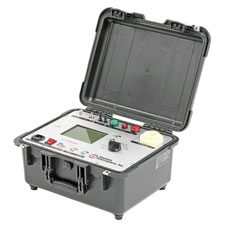 The device performs Insulation Resistance testing with automated  Polarity Index and Absorption Ratio testing and can serve as a  standalone 60 kV DC high-potential test set.