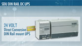 SDU 24 Volt Direct Conversion DIN Rail Mount UPS